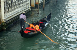 Gondoliere, Venecia, Italia Fotografía de archivo libre de regalías