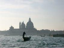 Gondoliere in Venedig Stockfotografie