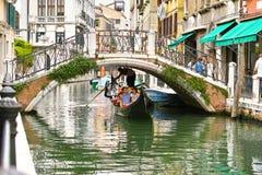 Gondoliere in Venedig Stockbild