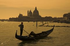 Gondoliere in Venedig, Italien Stockfotografie