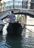 Gondoliere in Venetië, Italië Stock Foto's