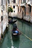 Gondoliers de Venise Photos libres de droits