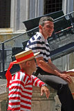 Gondoliers Royalty Free Stock Image