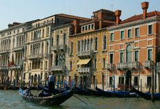 Gondoliers. Near berth in Venice, Italy Stock Images