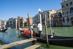 Gondoliers veneziani Immagini Stock Libere da Diritti