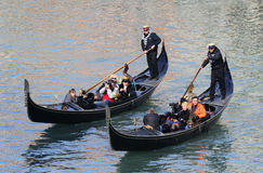 Gondoliers of Venice Stock Photo