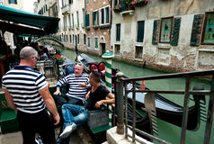 Gondoliers of Venice Stock Images