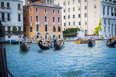 Gondoliers in Venice Royalty Free Stock Photography