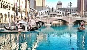 Gondolritt i Las Vegas Royaltyfri Foto