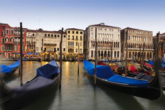 Gondols in Grand Canal Stock Photography