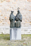 Gondulph and Monulph monument in Maastricht, Netherlands Royalty Free Stock Images