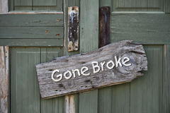 Gone Broke. Stock Photography