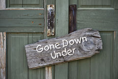 Gone Down Under. Royalty Free Stock Images
