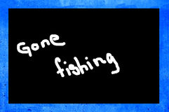 Gone fishing Stock Images