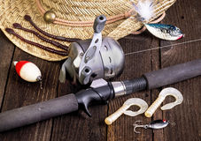 Gone Fishing. Royalty Free Stock Images