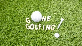 GONE Golfing is on green grass Stock Photography