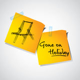 Gone on holiday Stock Images