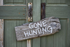 Gone Hunting. Stock Image