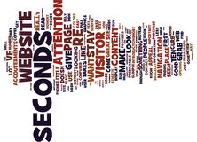 Gone In Seconds Word Cloud Concept Royalty Free Stock Photography