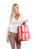 Gone shopping. Royalty Free Stock Image