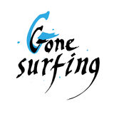 Gone surfing- gift card design vector illustration