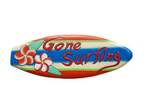 Gone surfing sign Royalty Free Stock Photo