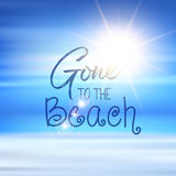 Gone to the beach quote background Royalty Free Stock Photo