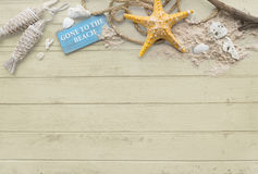 Gone to the Beach Summer Holiday Vacation Starfish Concept Stock Image