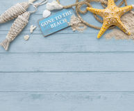 Gone to the Beach Summer Holiday Vacation Starfish Concept Royalty Free Stock Image