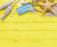 Gone to the Beach Summer Holiday Vacation Starfish Concept Stock Images