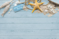 Gone to the Beach Summer Holiday Vacation Starfish Concept Royalty Free Stock Photo