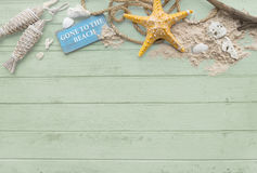 Gone to the Beach Summer Holiday Vacation Starfish Concept Stock Photo