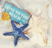 Gone to the Beach Summer Holiday Vacation Starfish Concept Royalty Free Stock Images