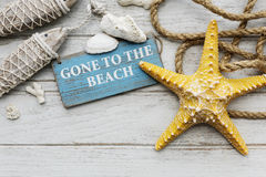 Gone to the Beach Summer Holiday Vacation Starfish Concept Royalty Free Stock Photos