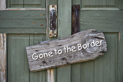 Gone to the Border. Stock Image