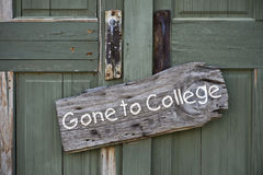 Gone to College. Stock Photo