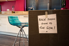 Gone to the Gym! Stock Image