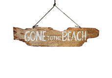 Free Gone To The Beach Royalty Free Stock Photo - 57755875