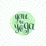 Gone to Yoga. Vector illustration. Placard for studio or yoga class, icon website. Royalty Free Stock Photos