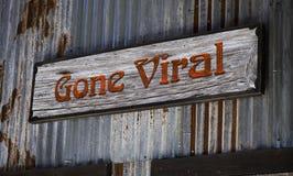 Gone Viral. Old gone viral sign Stock Photos