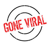 Gone Viral rubber stamp. Grunge design with dust scratches. Effects can be easily removed for a clean, crisp look. Color is easily changed Stock Image