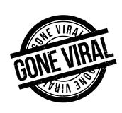 Gone Viral rubber stamp. Grunge design with dust scratches. Effects can be easily removed for a clean, crisp look. Color is easily changed Stock Photos