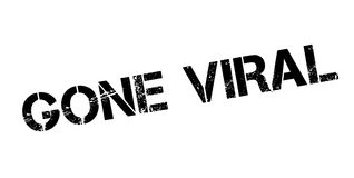Gone Viral rubber stamp. Grunge design with dust scratches. Effects can be easily removed for a clean, crisp look. Color is easily changed Stock Images