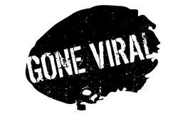 Gone Viral rubber stamp. Grunge design with dust scratches. Effects can be easily removed for a clean, crisp look. Color is easily changed Stock Photography