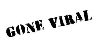 Gone Viral rubber stamp. Grunge design with dust scratches. Effects can be easily removed for a clean, crisp look. Color is easily changed Stock Photo