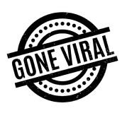 Gone Viral rubber stamp. Grunge design with dust scratches. Effects can be easily removed for a clean, crisp look. Color is easily changed Royalty Free Stock Image