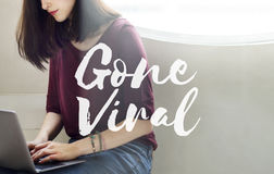 Gone Viral Social Media Networking Connection Sharing Concept royalty free stock photo