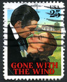 Gone With the Winf US Postage Stamp Stock Image