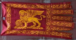 Gonfalone flaggan av Venedig Royaltyfri Fotografi