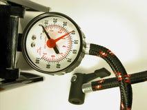 Gonfiatore/manometro della pompa di bicicletta Fotografia Stock Libera da Diritti